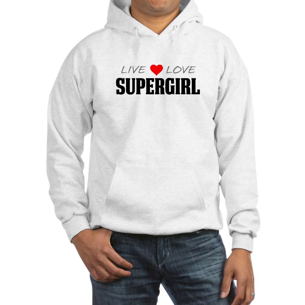 Live Love Supergirl Hooded Sweatshirt