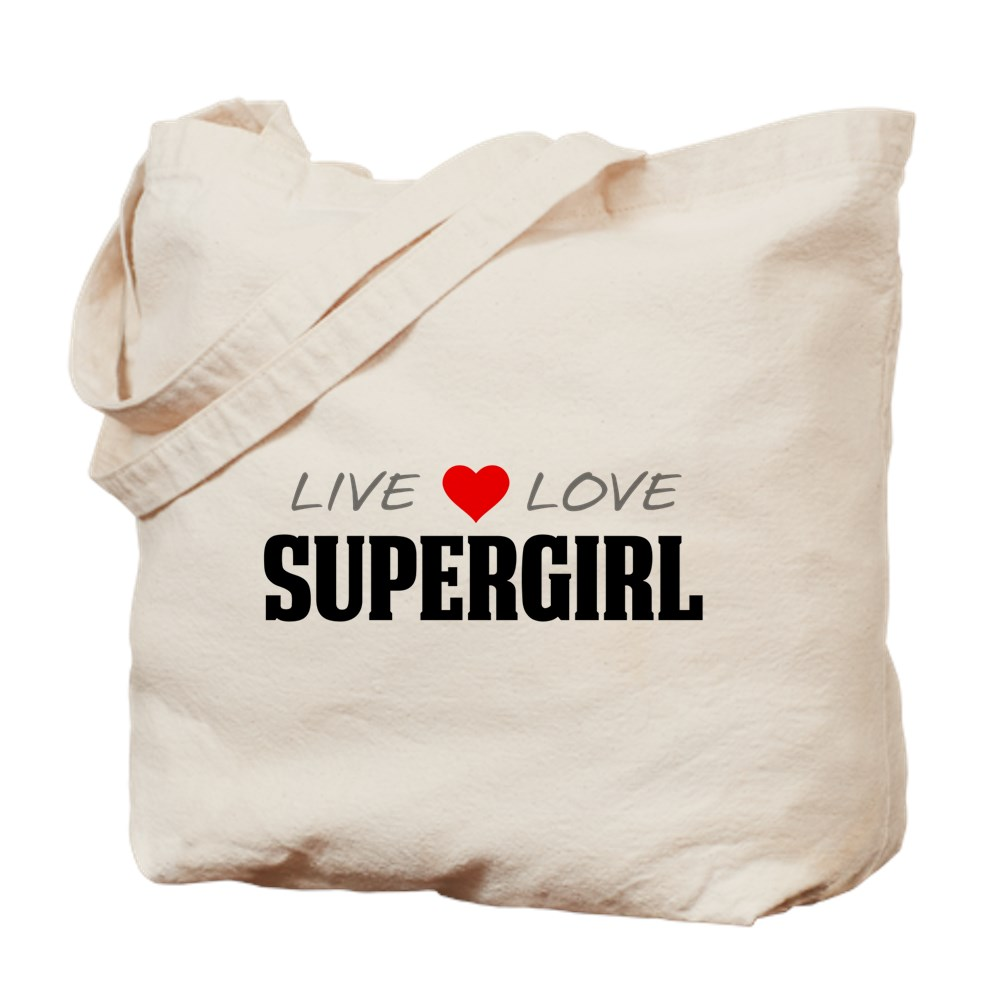 Live Love Supergirl Tote Bag