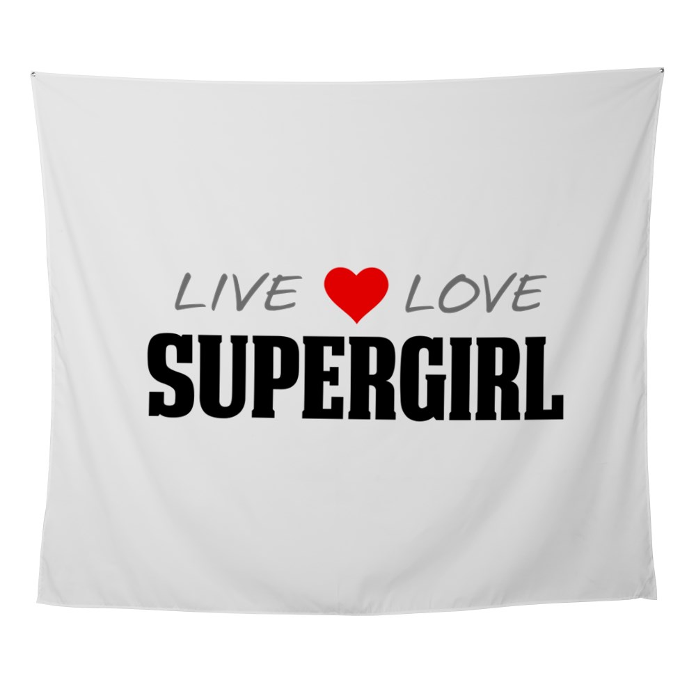 Live Love Supergirl Wall Tapestry