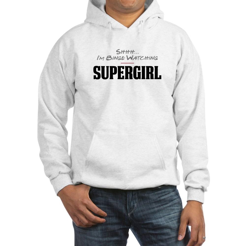 Shhh... I'm Binge Watching Supergirl Hooded Sweatshirt