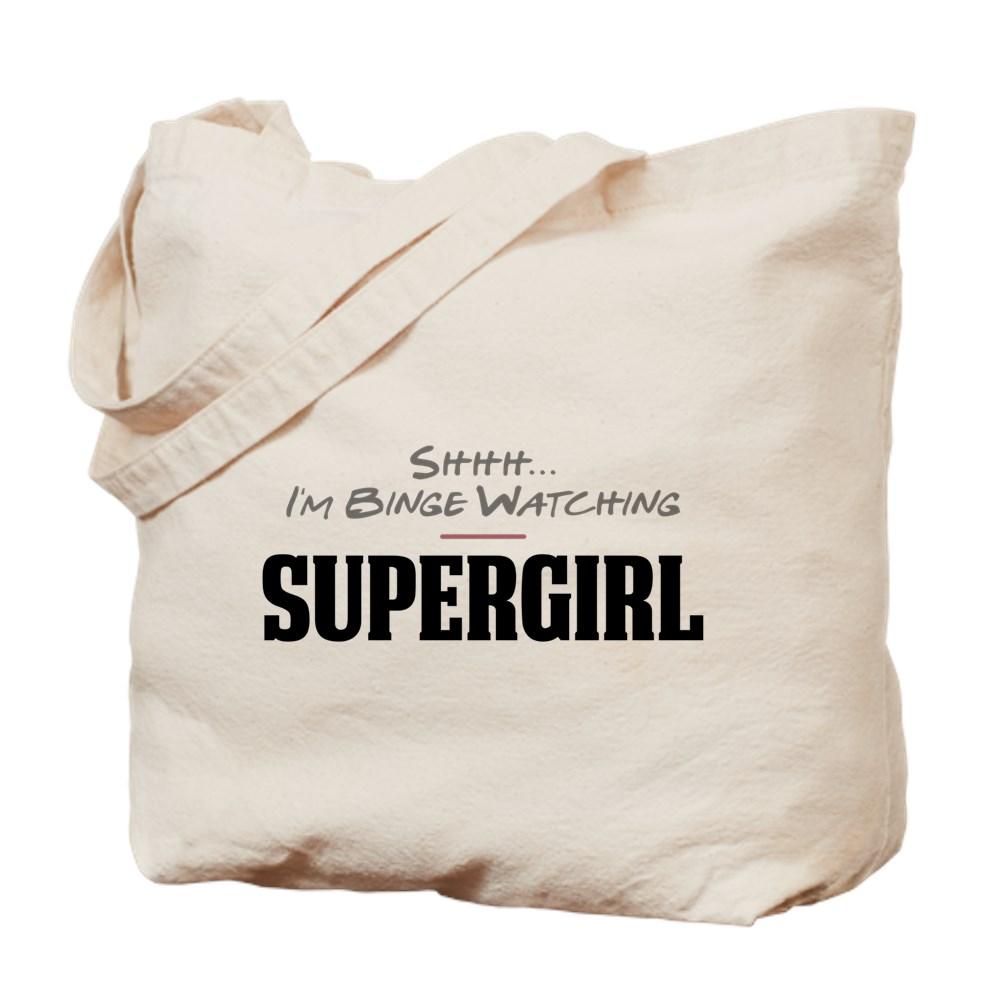 Shhh... I'm Binge Watching Supergirl Tote Bag