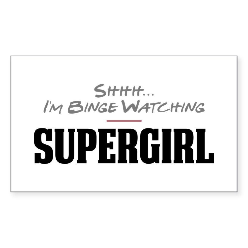 Shhh... I'm Binge Watching Supergirl Rectangle Sticker