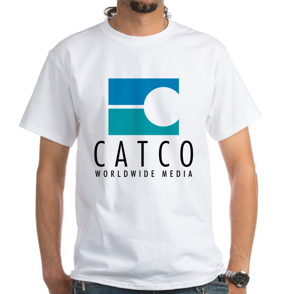 Catco Worldwide Media Logo White T-Shirt