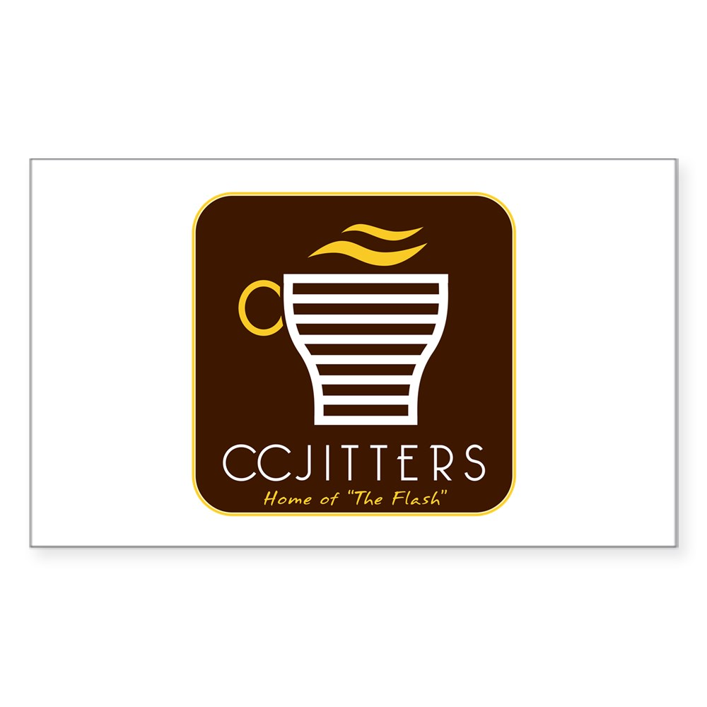 CC Jitters Flash Logo Rectangle Sticker