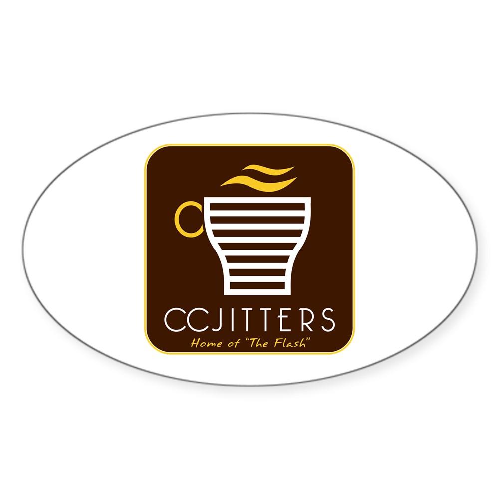 CC Jitters Flash Logo Oval Sticker