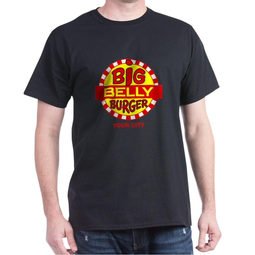 Personalized Big Belly Burger Logo Dark T-Shirt