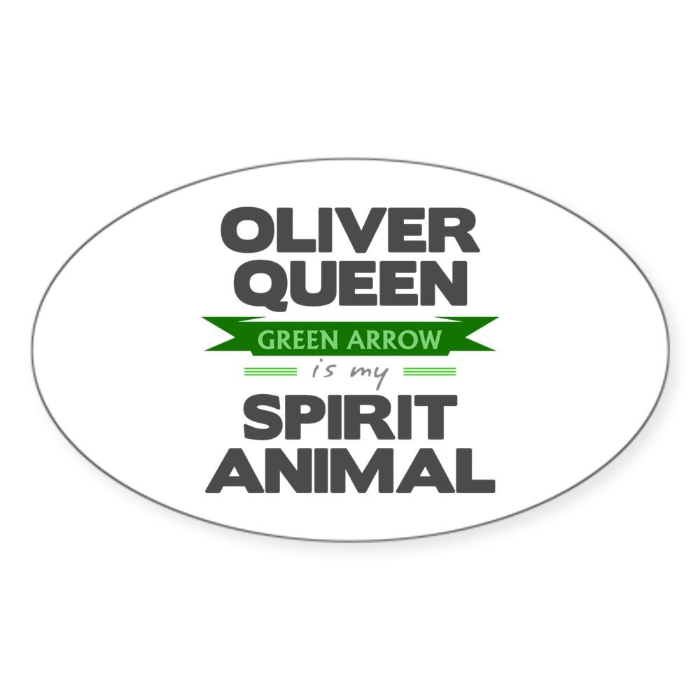 Oliver Queen is my Spirit Animal Oval Sticker