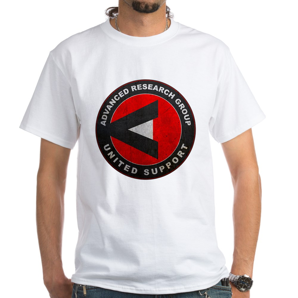 A.R.G.U.S. Logo Distressed White T-Shirt