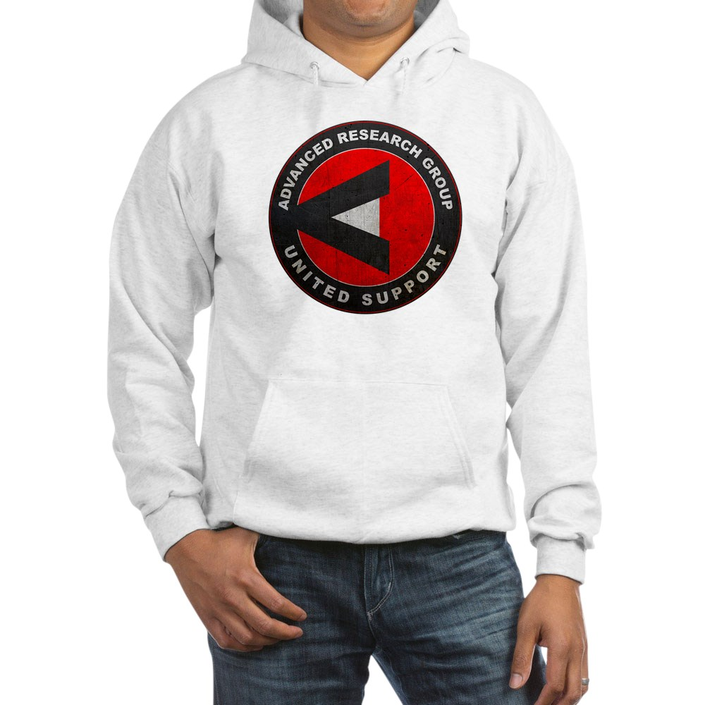 A.R.G.U.S. Logo Distressed Hooded Sweatshirt