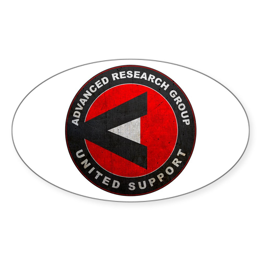 A.R.G.U.S. Logo Distressed Oval Sticker
