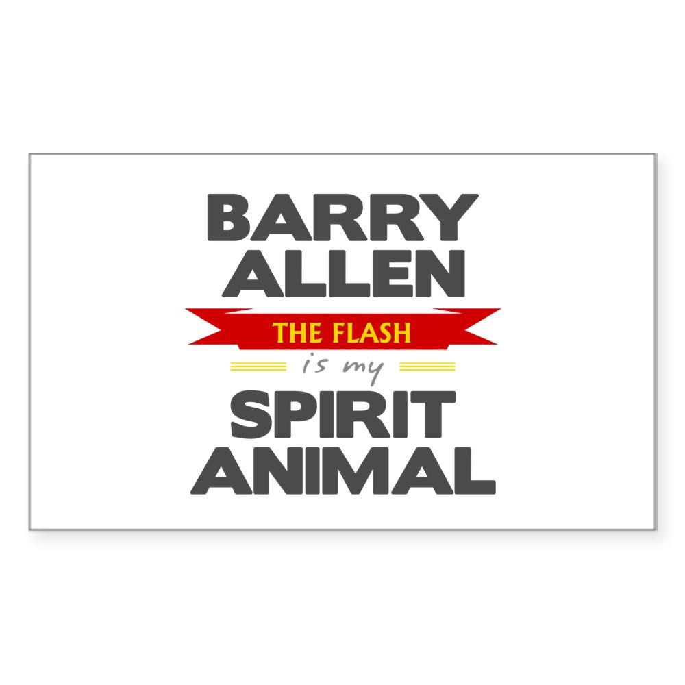 Barry Allen is my Spirit Animal Rectangle Sticker