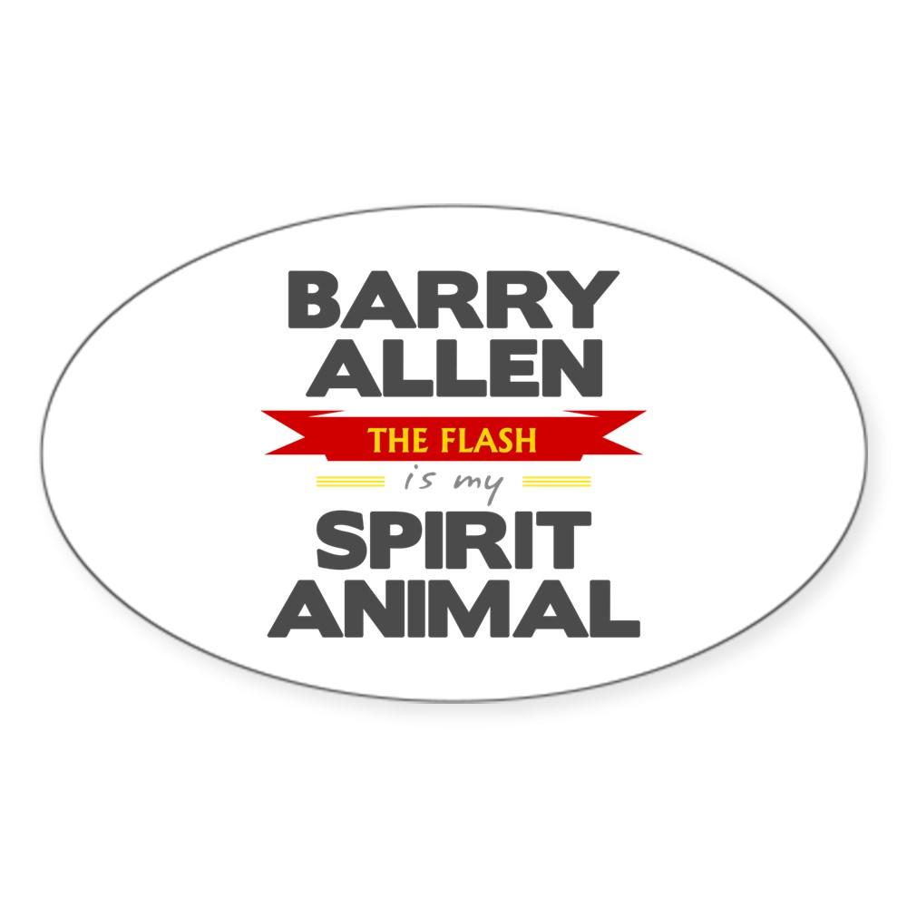 Barry Allen is my Spirit Animal Oval Sticker