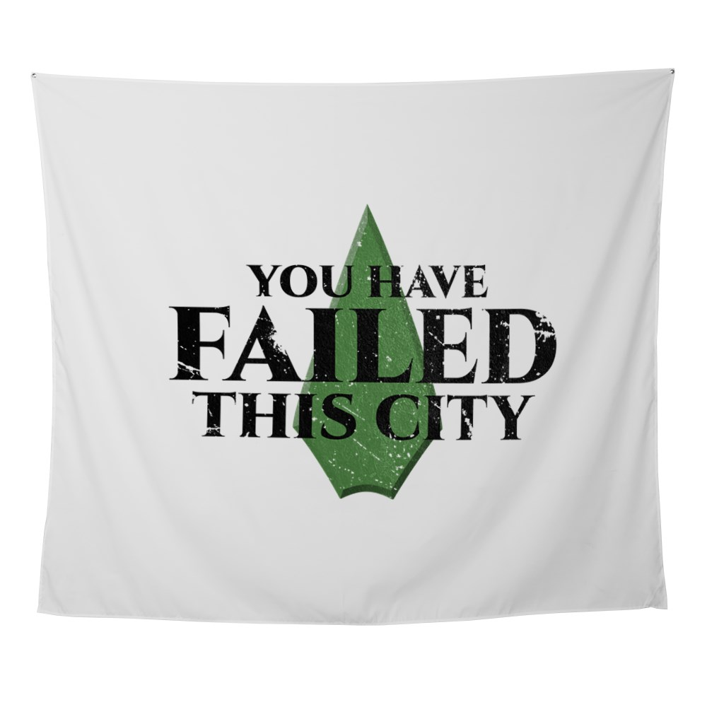 You Have Failed This City - Arrow Wall Tapestry