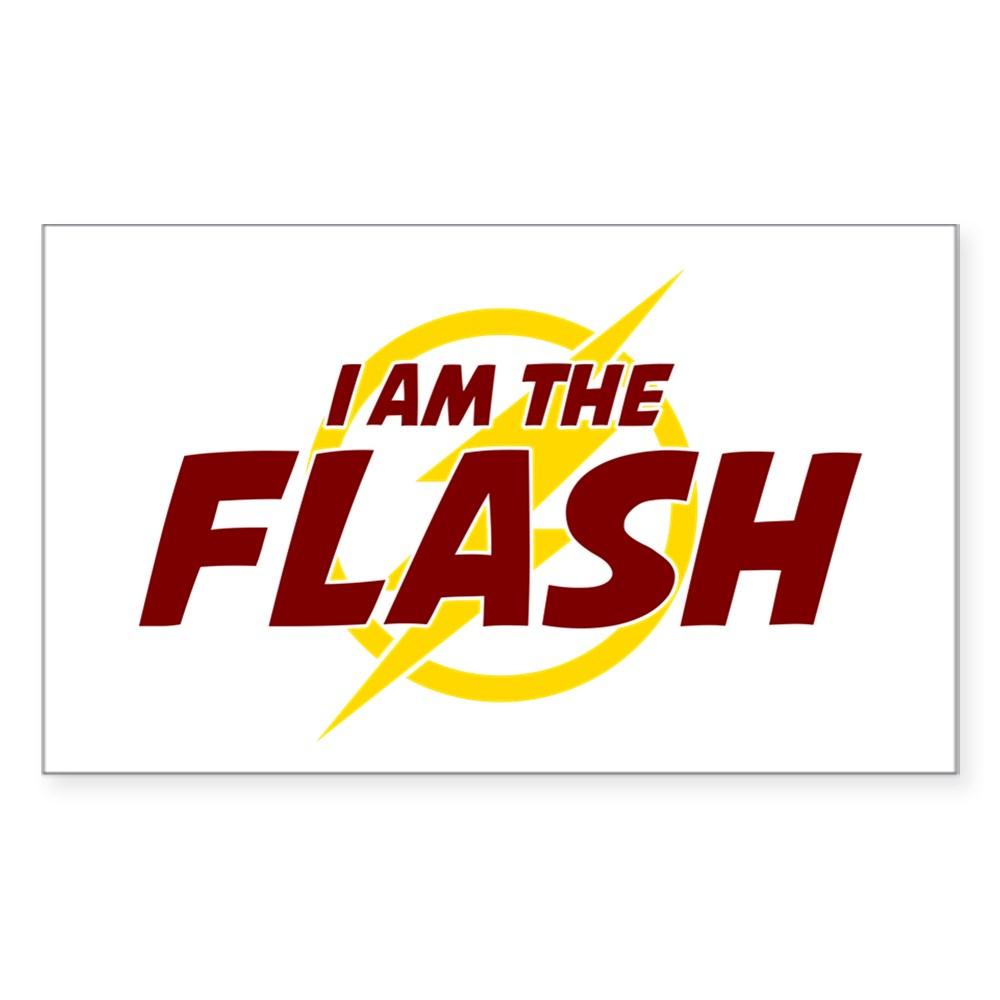 I Am The Flash Rectangle Sticker