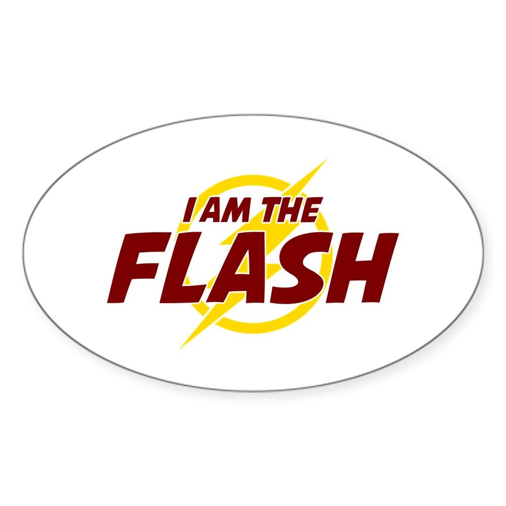 I Am The Flash Oval Sticker