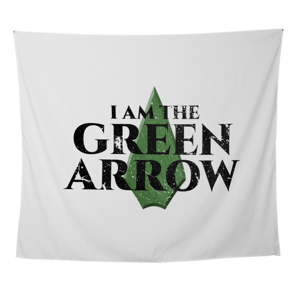 i am green arrow dk Wall Tapestry