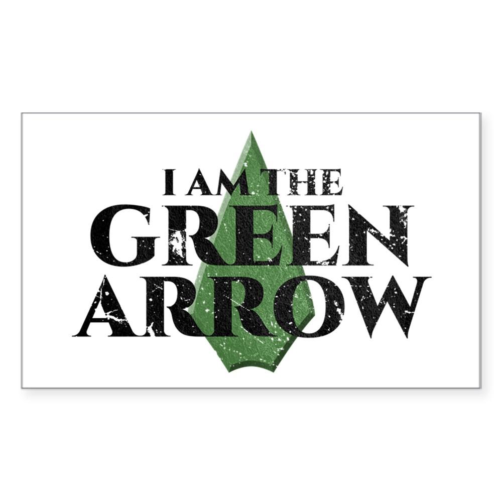 i am green arrow dk Rectangle Sticker