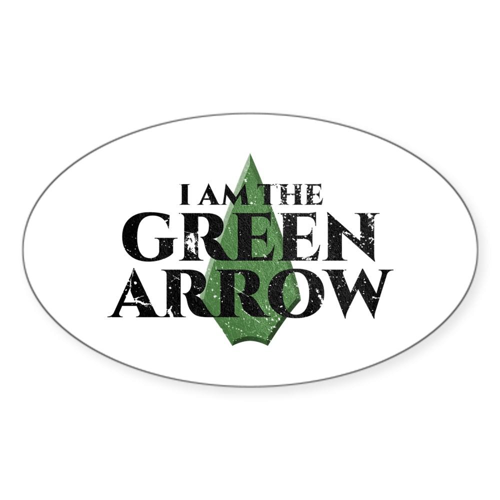 i am green arrow dk Oval Sticker