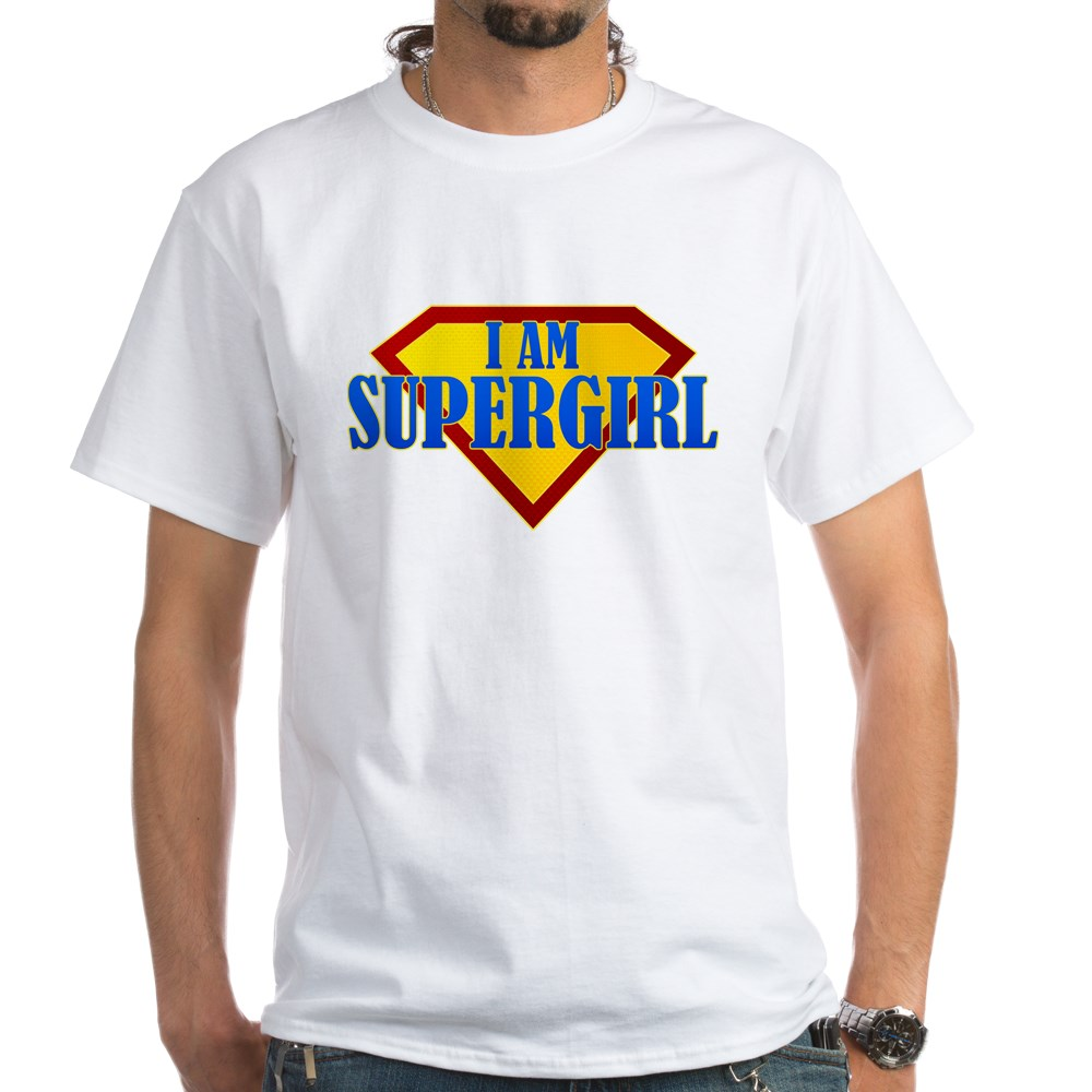 I Am Supergirl White T-Shirt