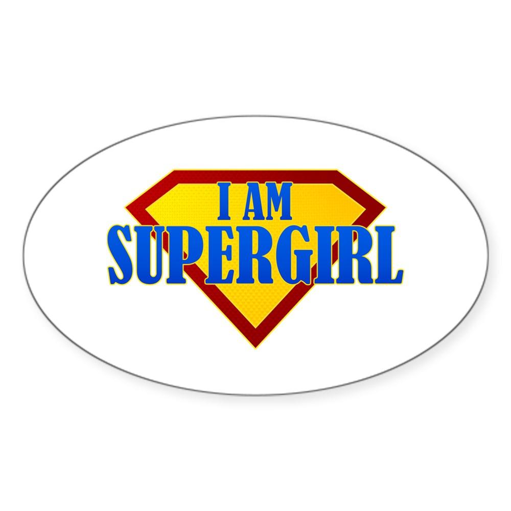 I Am Supergirl Oval Sticker
