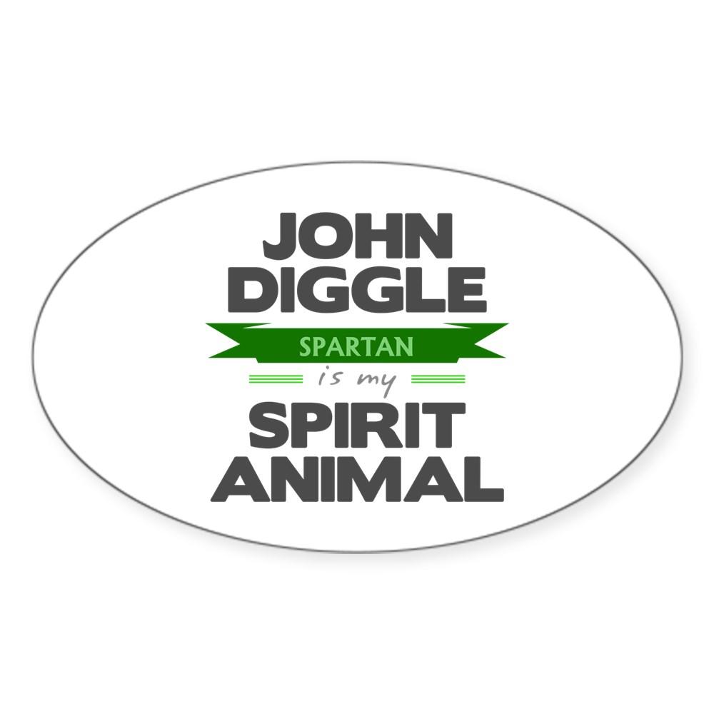 John Diggle is my Spirit Animal Oval Sticker