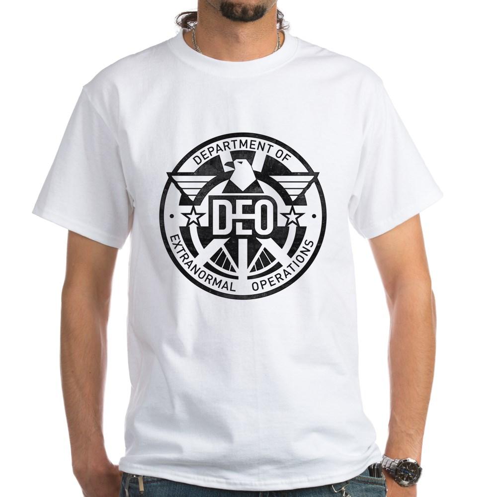 Distressed DEO Logo White T-Shirt