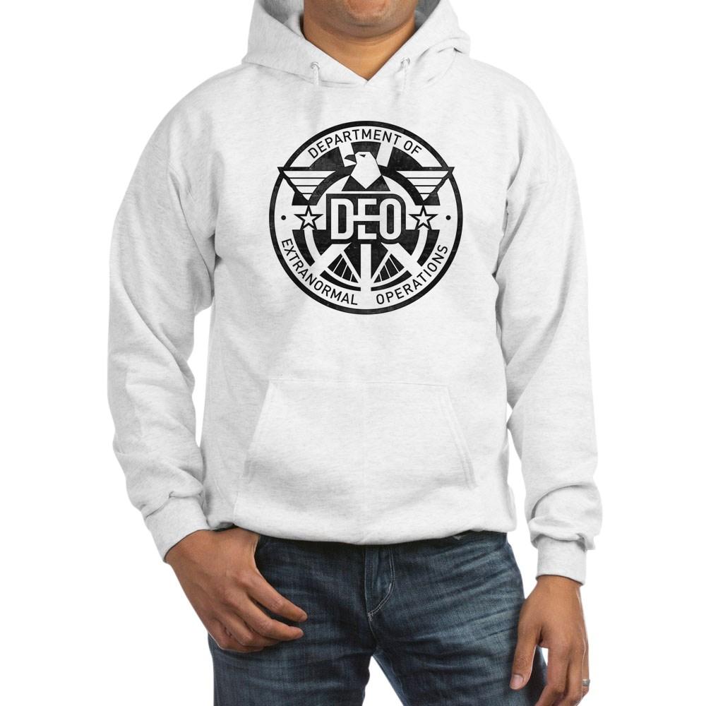 Distressed DEO Logo Hooded Sweatshirt