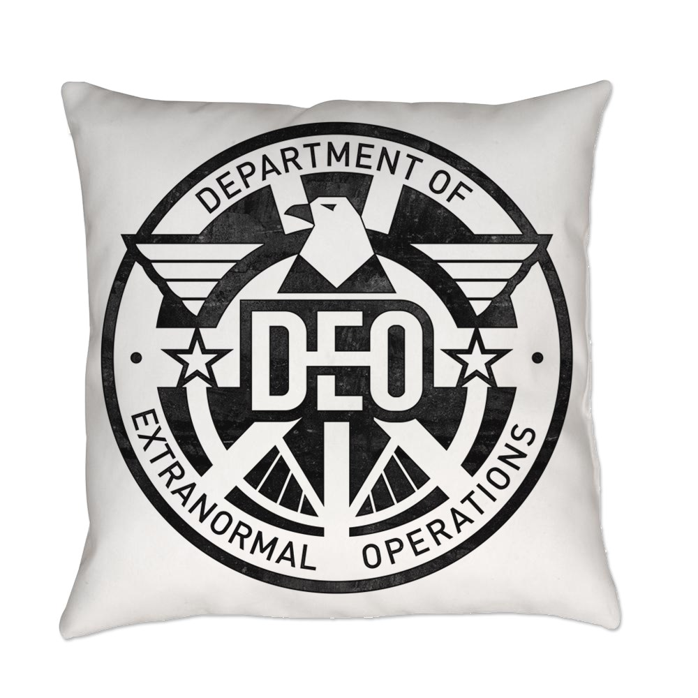 Distressed DEO Logo Everyday Pillow