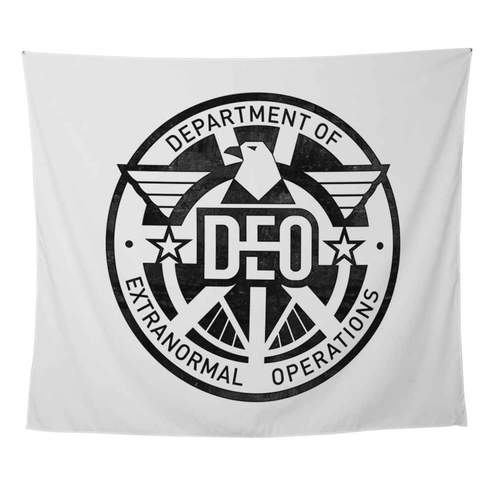 Distressed DEO Logo Wall Tapestry