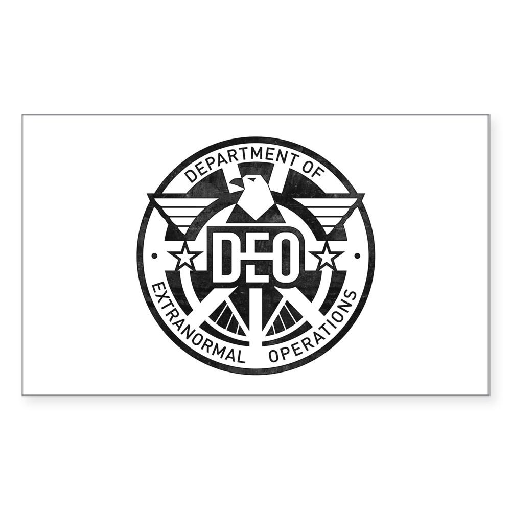 Distressed DEO Logo Rectangle Sticker