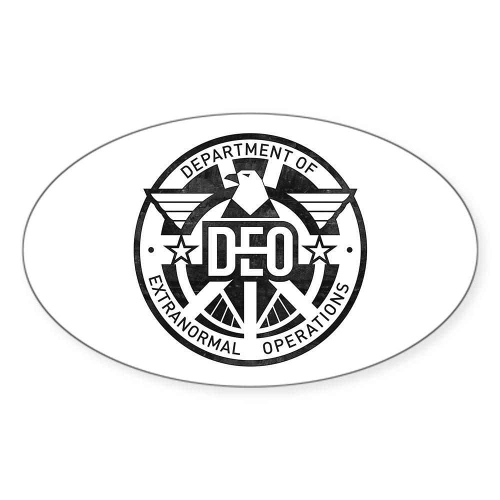 Distressed DEO Logo Oval Sticker