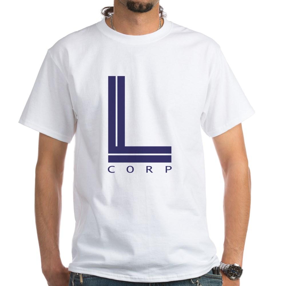 L Corp Logo White T-Shirt