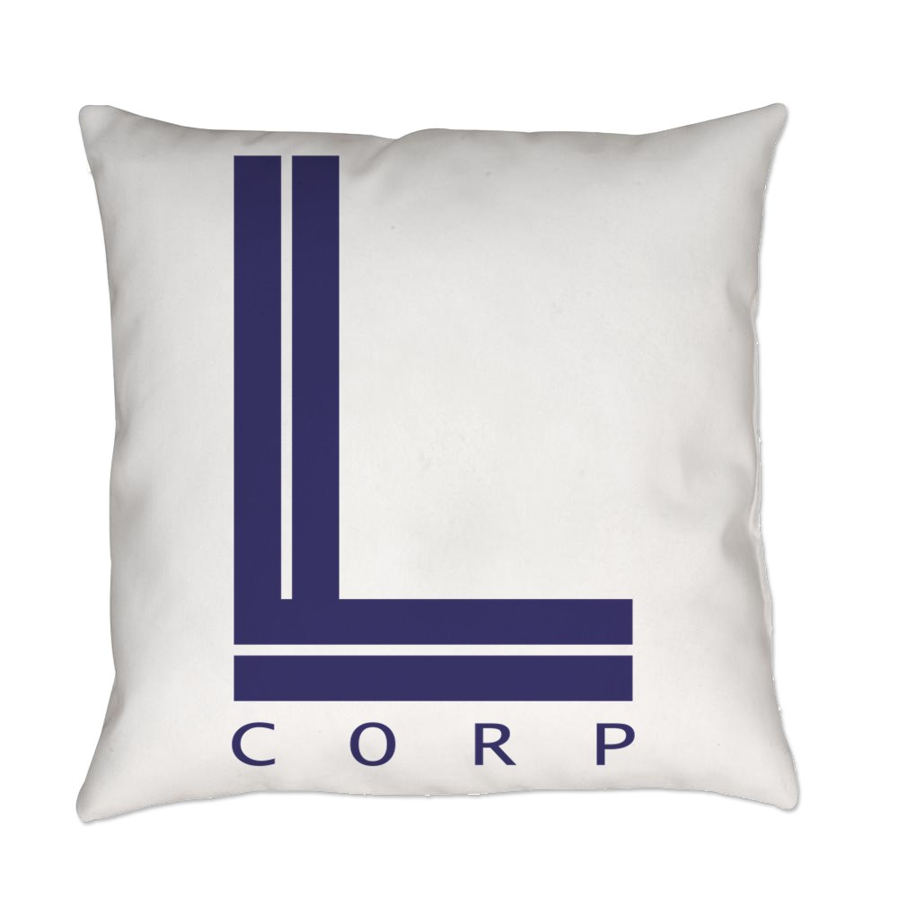 L Corp Logo Everyday Pillow