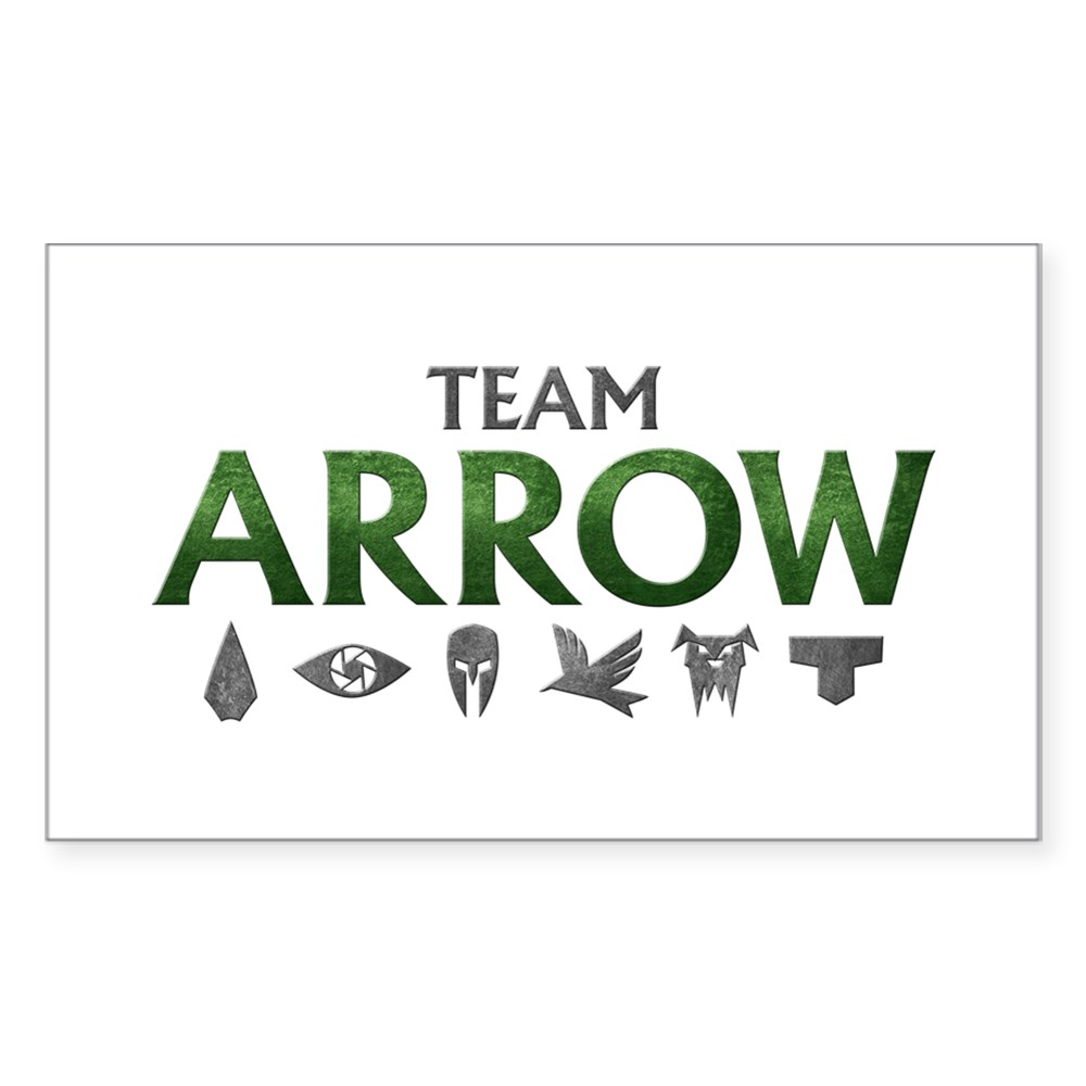 Team Arrow Rectangle Sticker