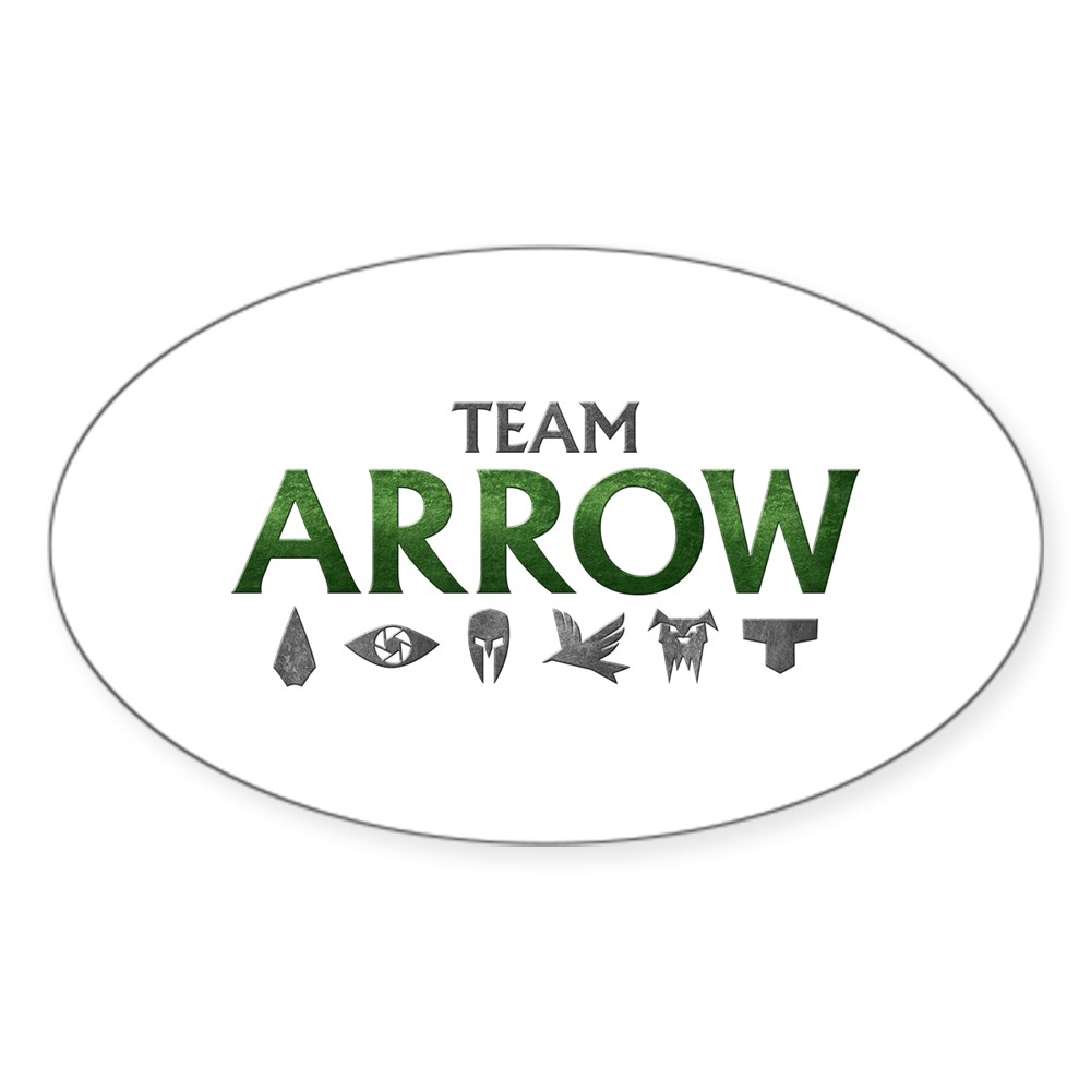 Team Arrow Oval Sticker