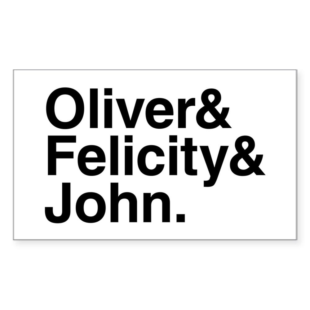 OTA Team Arrow Names Rectangle Sticker