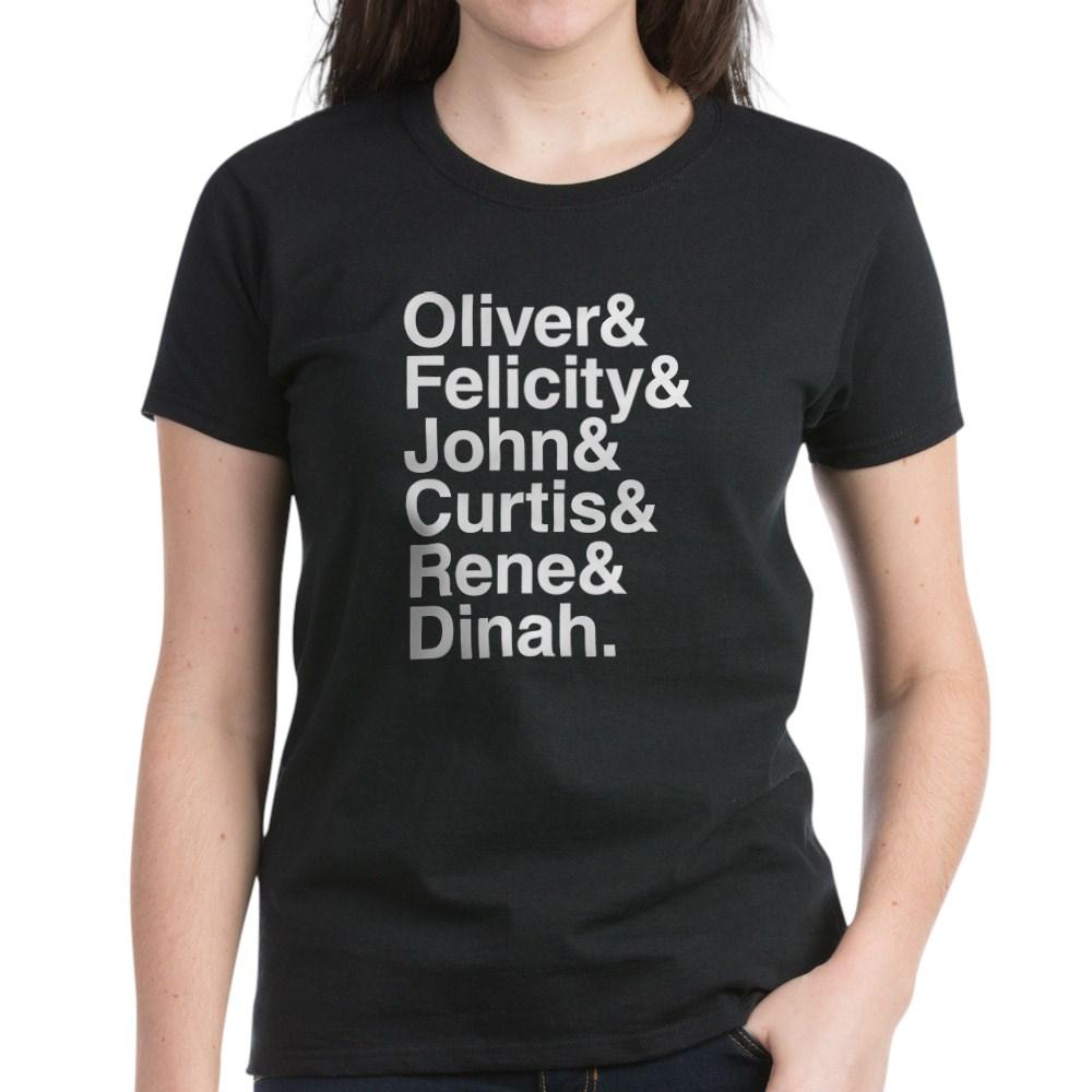 Team Arrow name List Women's Dark T-Shirt