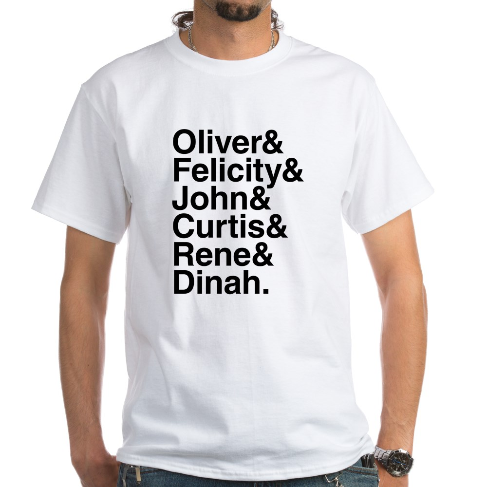 Team Arrow name List White T-Shirt