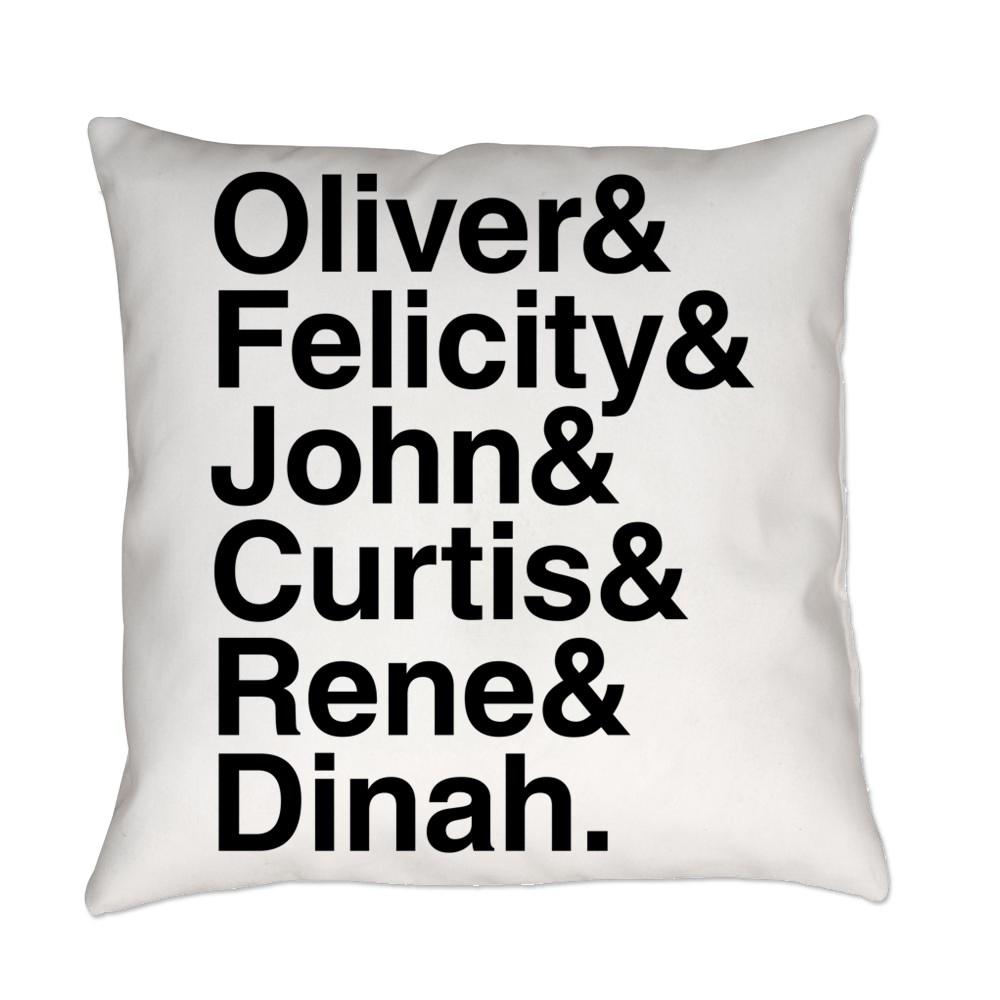 Team Arrow name List Everyday Pillow