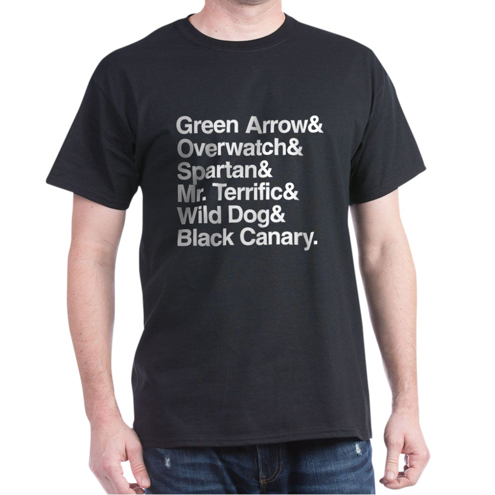 Team Arrow Codenames List Dark T-Shirt
