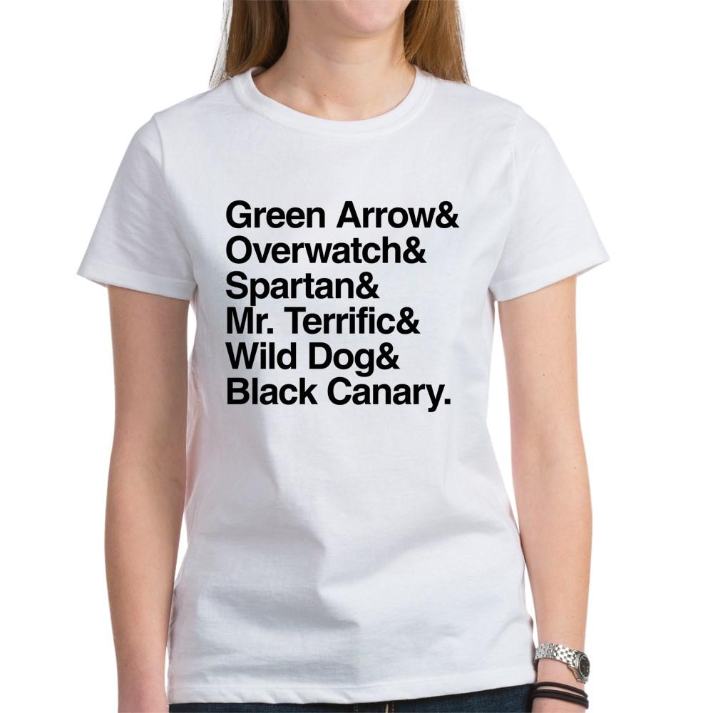 Team Arrow Codenames List Women's T-Shirt