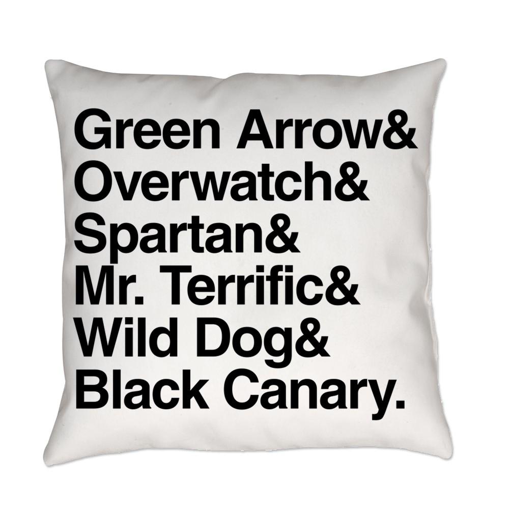 Team Arrow Codenames List Everyday Pillow