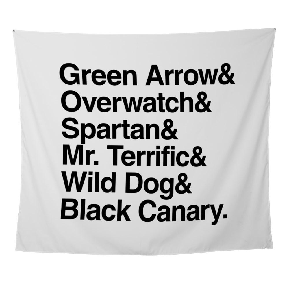 Team Arrow Codenames List Wall Tapestry