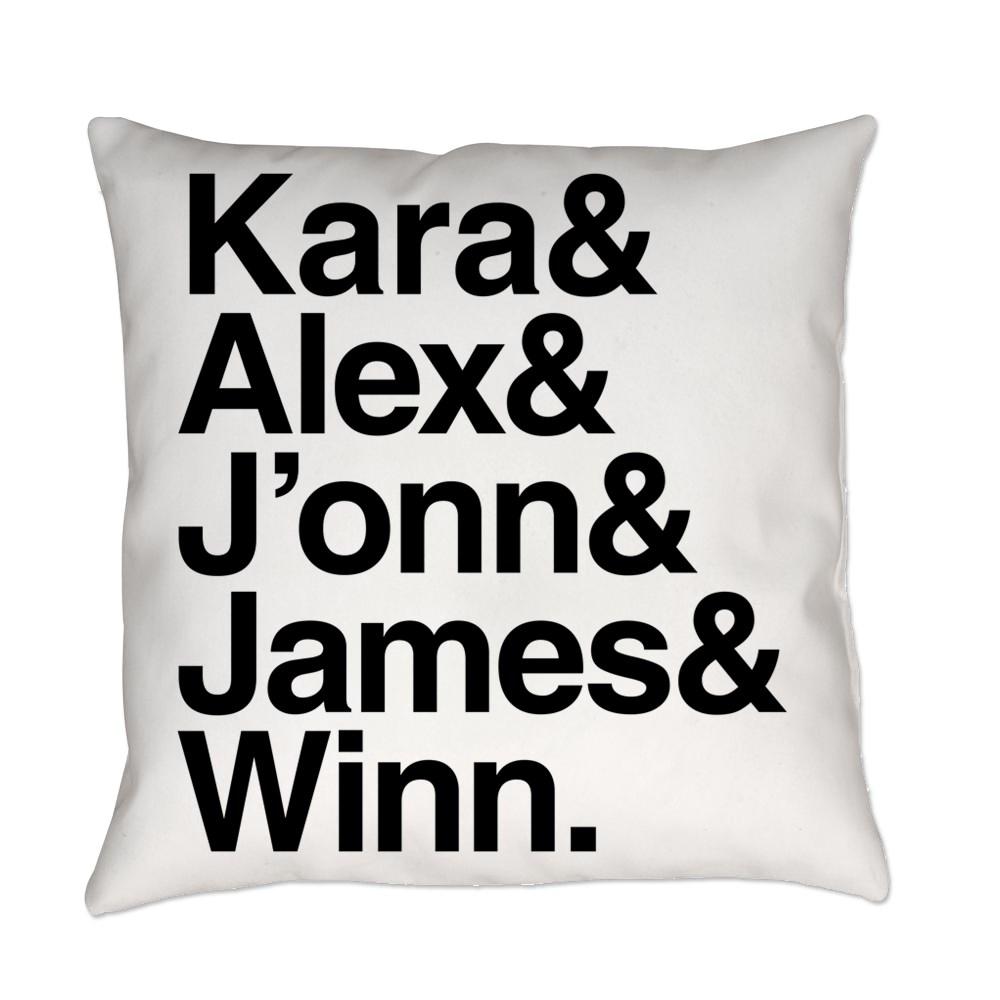 Team Supergirl Name List Everyday Pillow