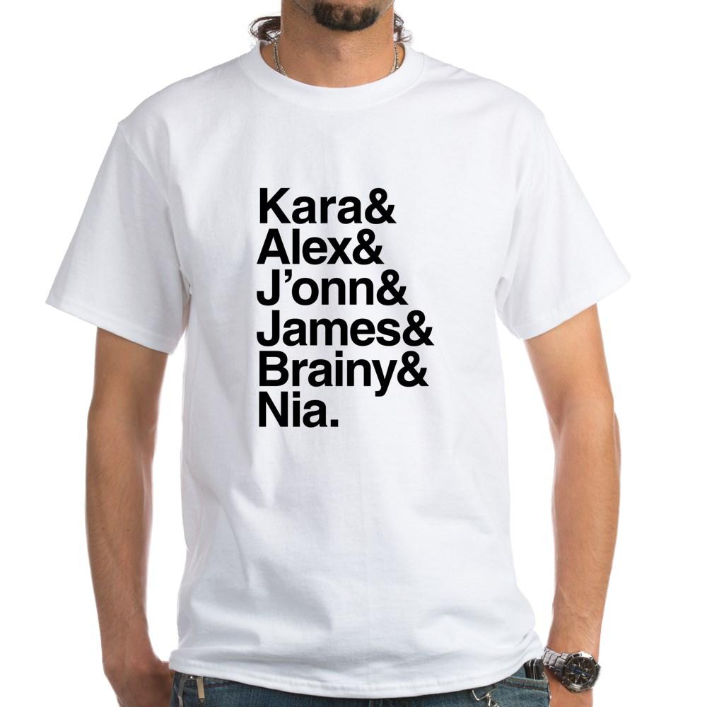 Team Supergirl Name List White T-Shirt