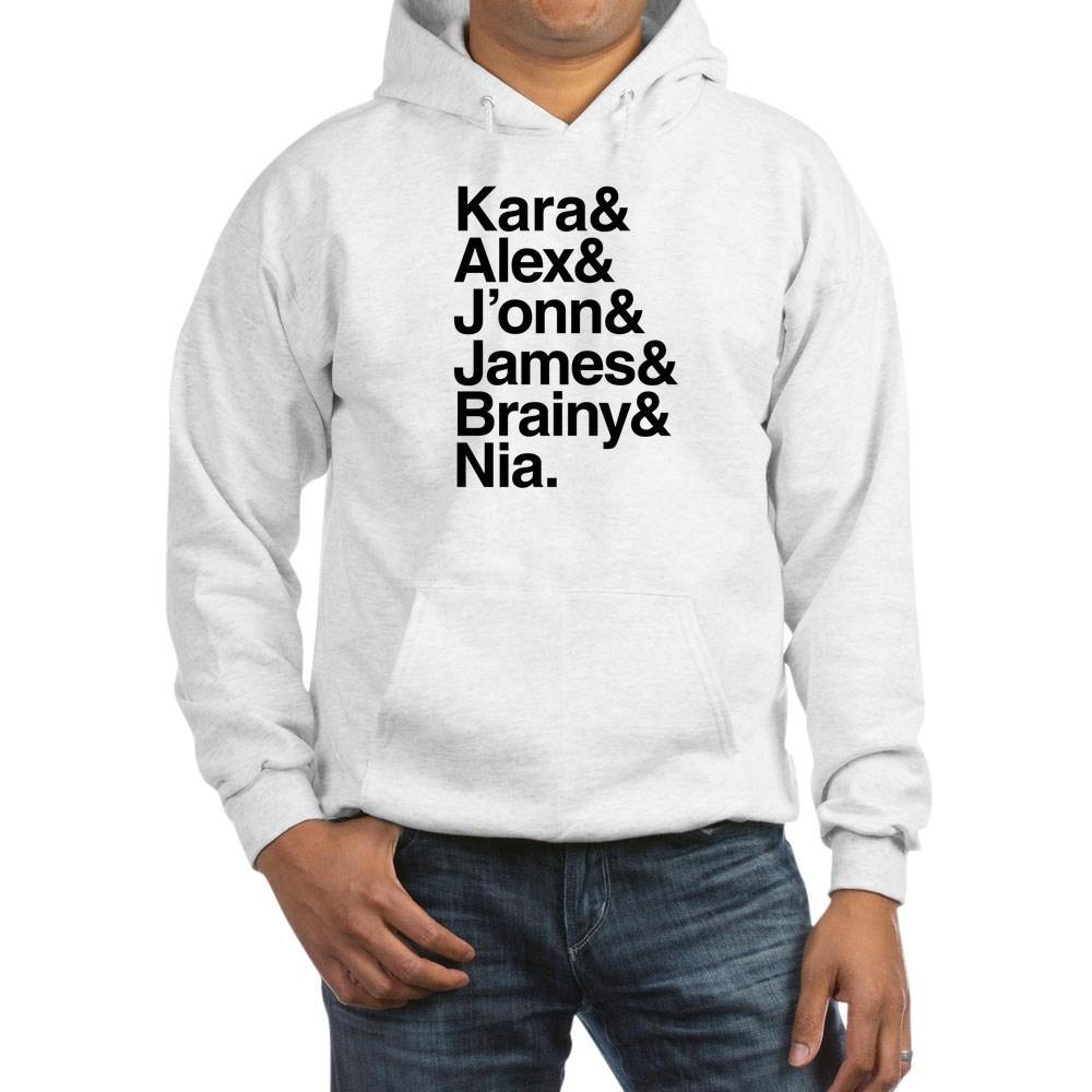 Team Supergirl Name List Hooded Sweatshirt