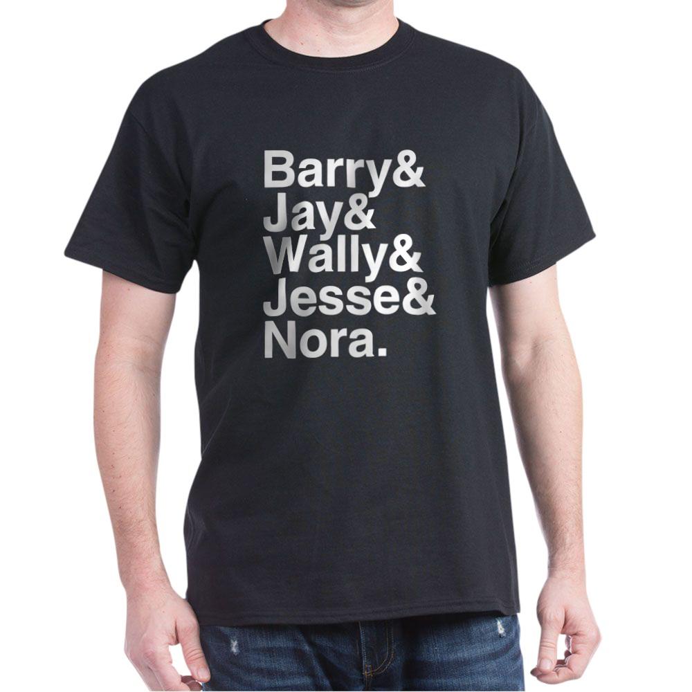 Hero Speedsters Name List Dark T-Shirt
