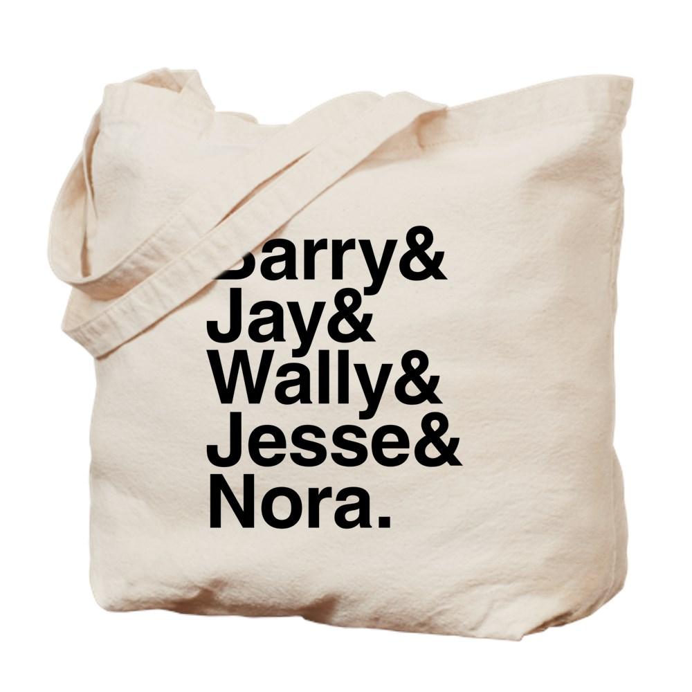 Hero Speedsters Name List Tote Bag