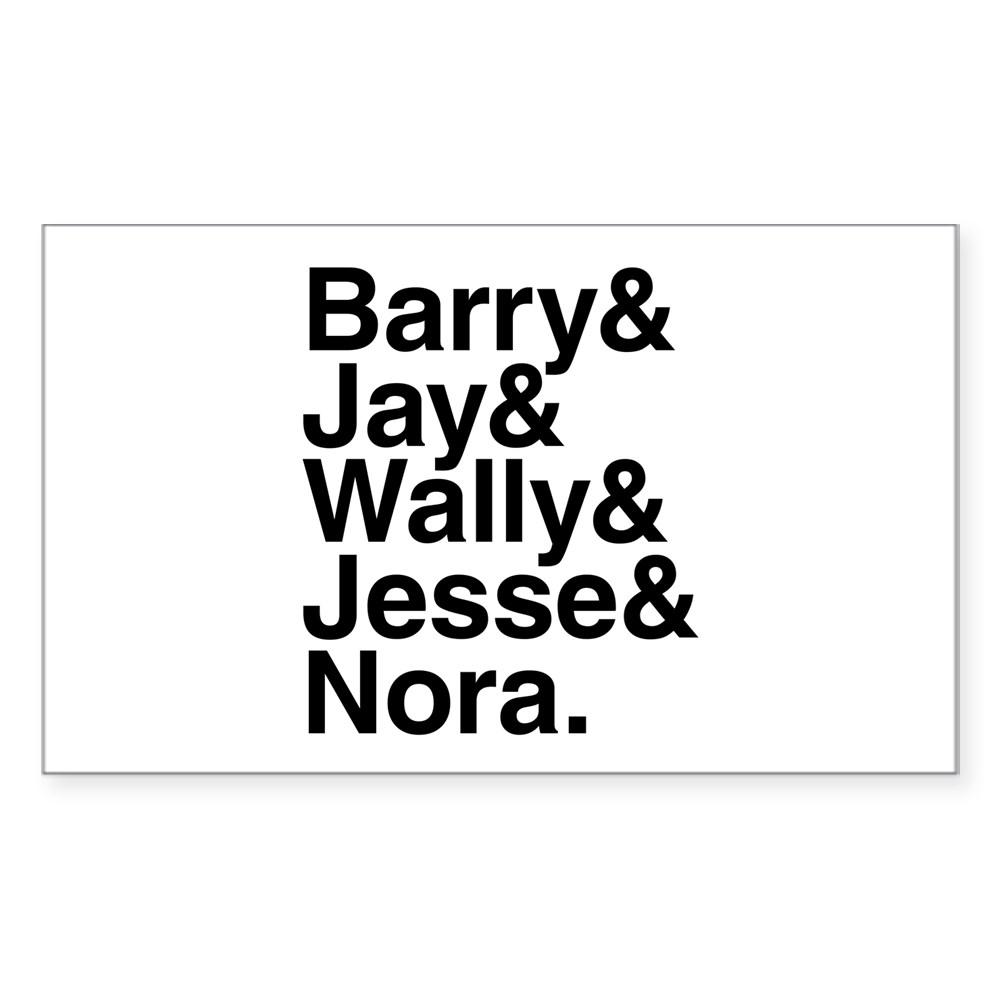 Hero Speedsters Name List Rectangle Sticker