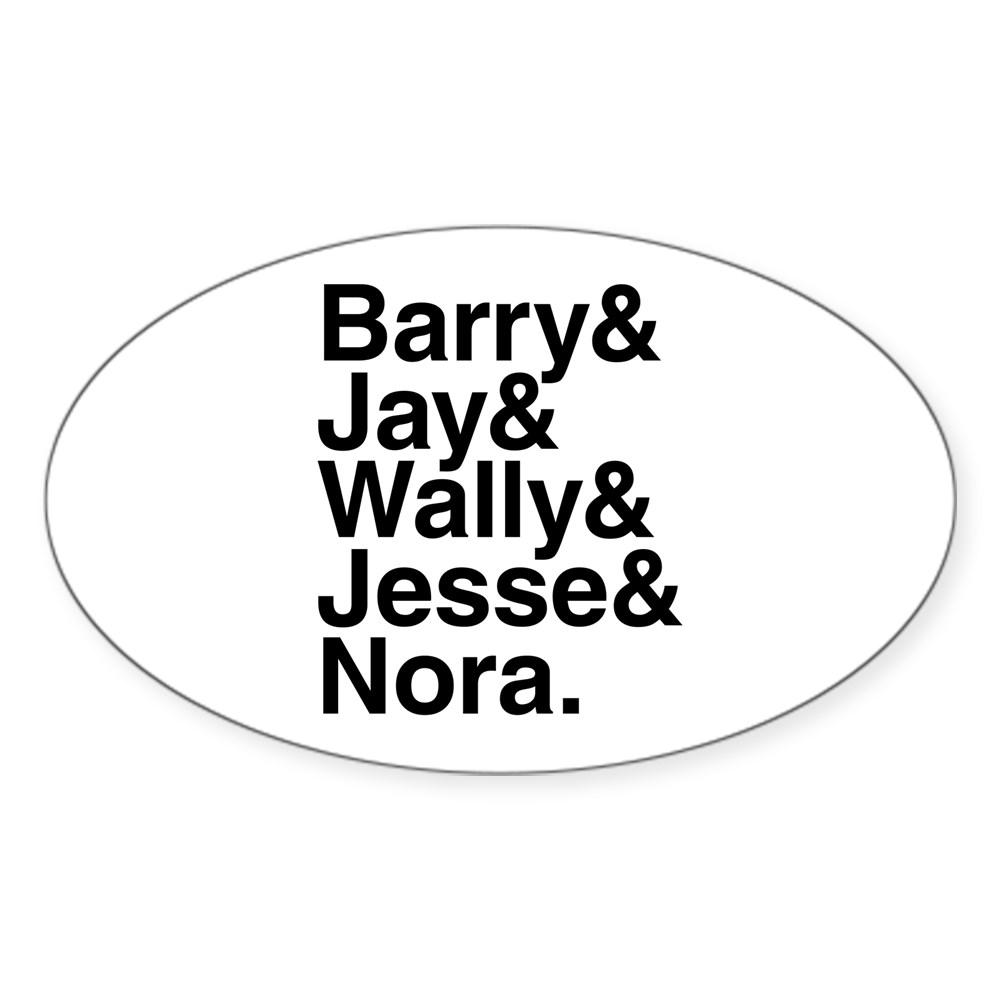 Hero Speedsters Name List Oval Sticker